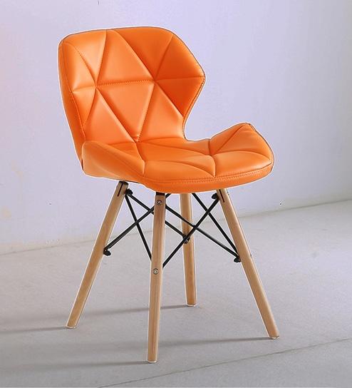 Superb Ormond Eames Replica Iconic Chair In Light Orange Colour By Finch Fox Machost Co Dining Chair Design Ideas Machostcouk