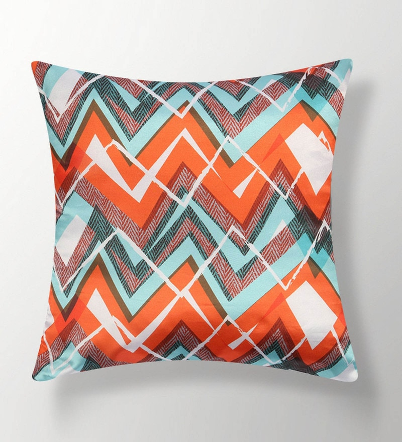 Orange Polyester 16x16 Inch Cushion Cover by Dreamscape