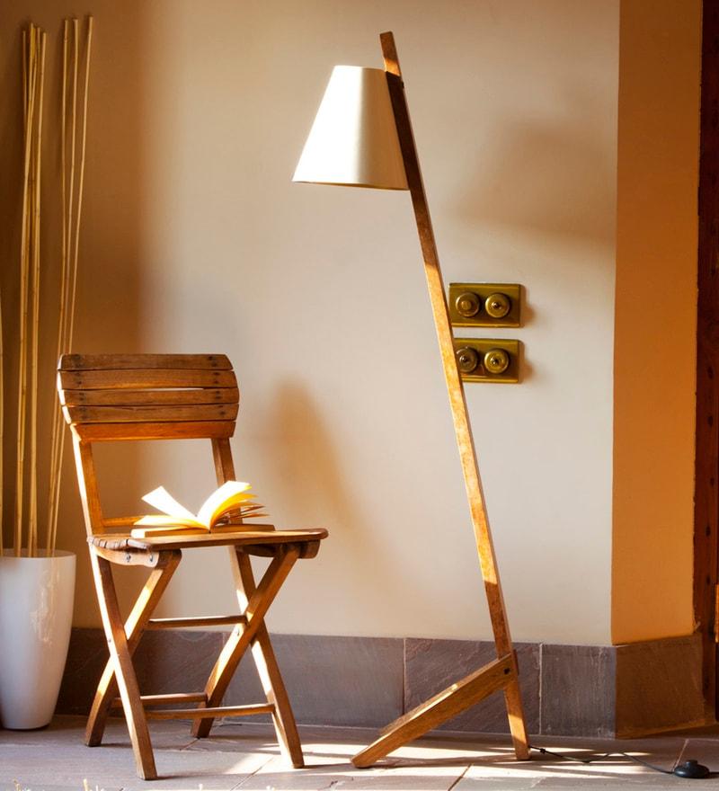 Off White Iron Jeev Floor Lamp by Orange Tree