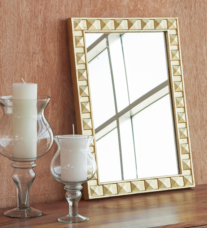 Orange Tree Gold Aluminium Rectangular Mirror