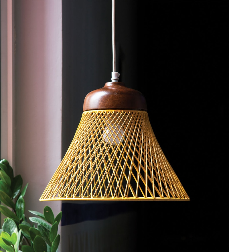 Yellow Iron Netta Hanging Lamp by Orange Tree