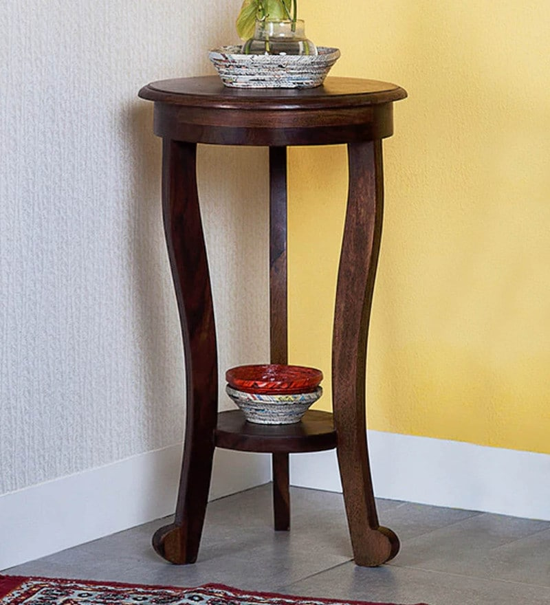 Oregon End Table in Provincial Teak Finish by Amberville