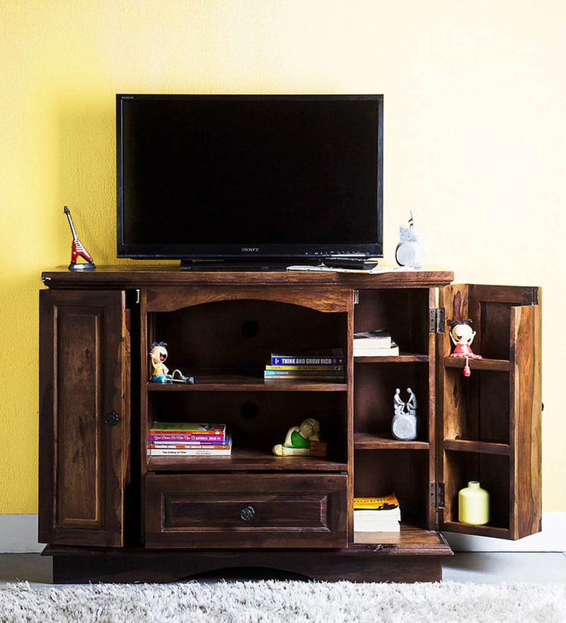 Oregon Entertainment Unit in Provincial Teak Finish by Amberville