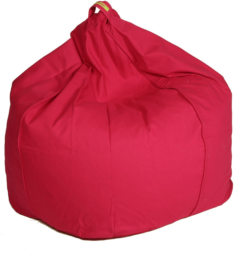 Organic XXL Bean Bag Cover in Pink Colour by Reme