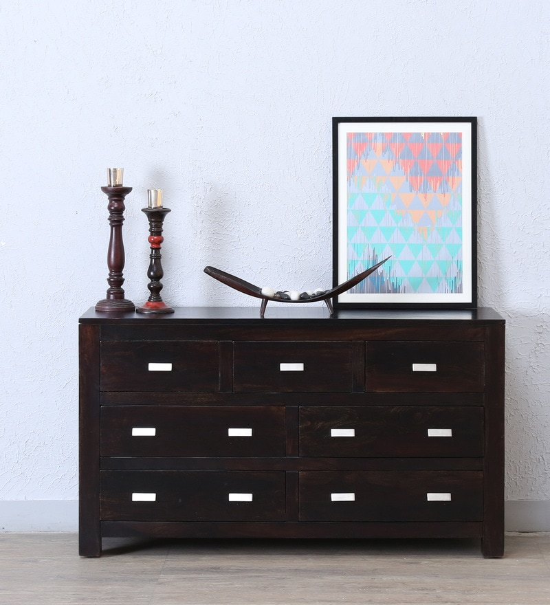 Oriel Chest of Seven Drawers in Warm Chestnut Finish by Woodsworth
