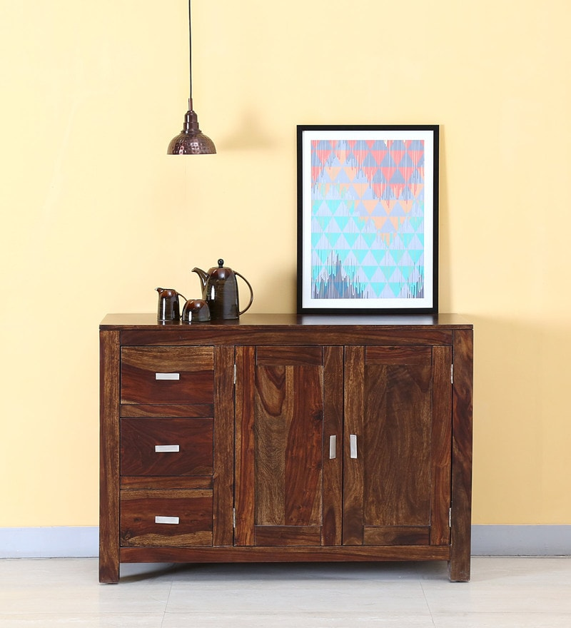 Oriel Two Door Three Drawer Sideboard in Provincial Teak Finish by Woodsworth