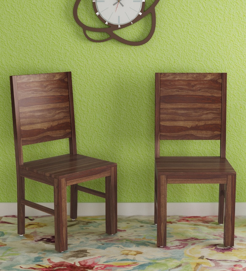 Buy Dining Chair: Buy Oriel Solid Wood Dining Chair (Set Of 2) In Provincial