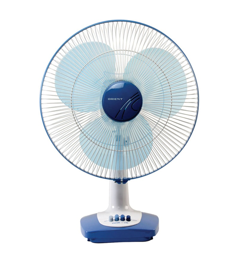 Orient 400 MM Azure Blue and White Table Fan