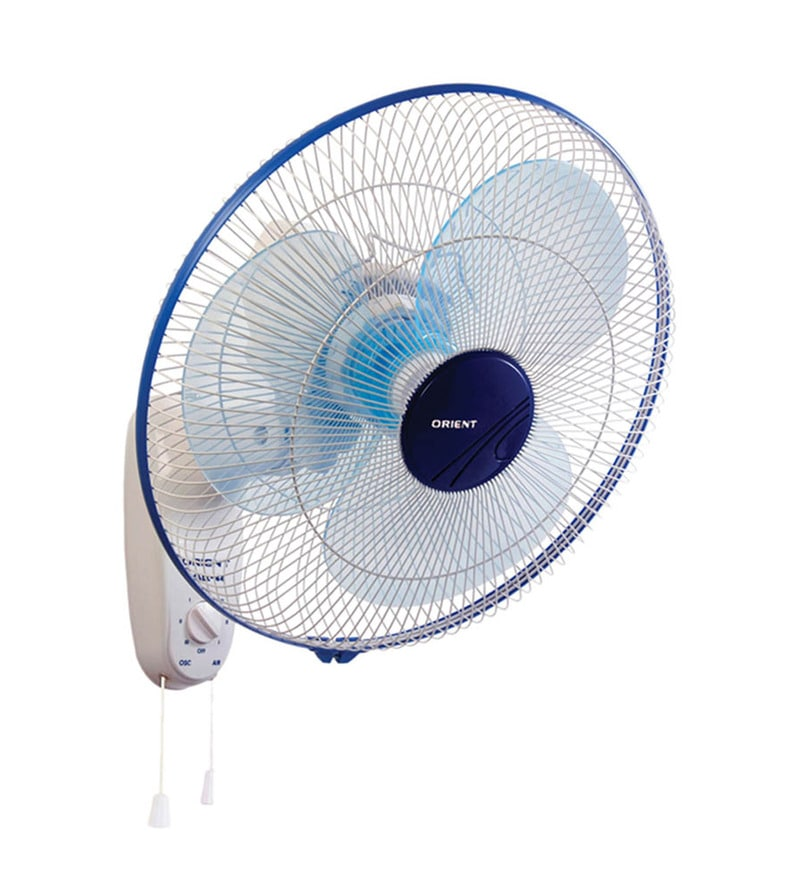 Orient 400 MM Azure Blue and White Wall Fan