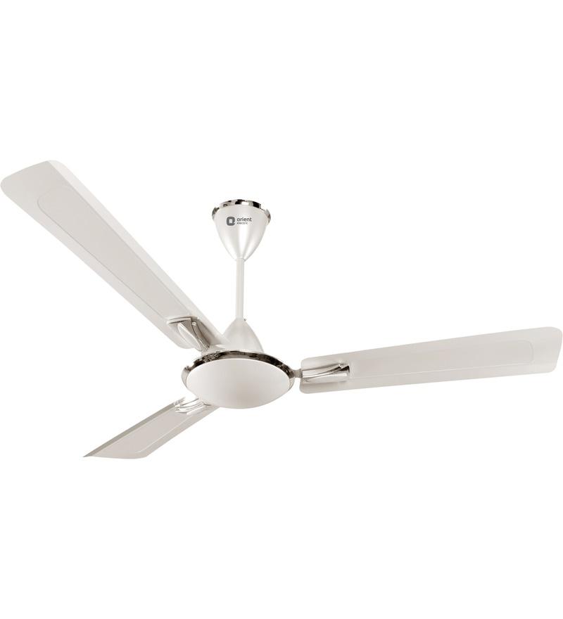 Orient Gratia Pearl Metallic White 1200mm Ceiling Fan