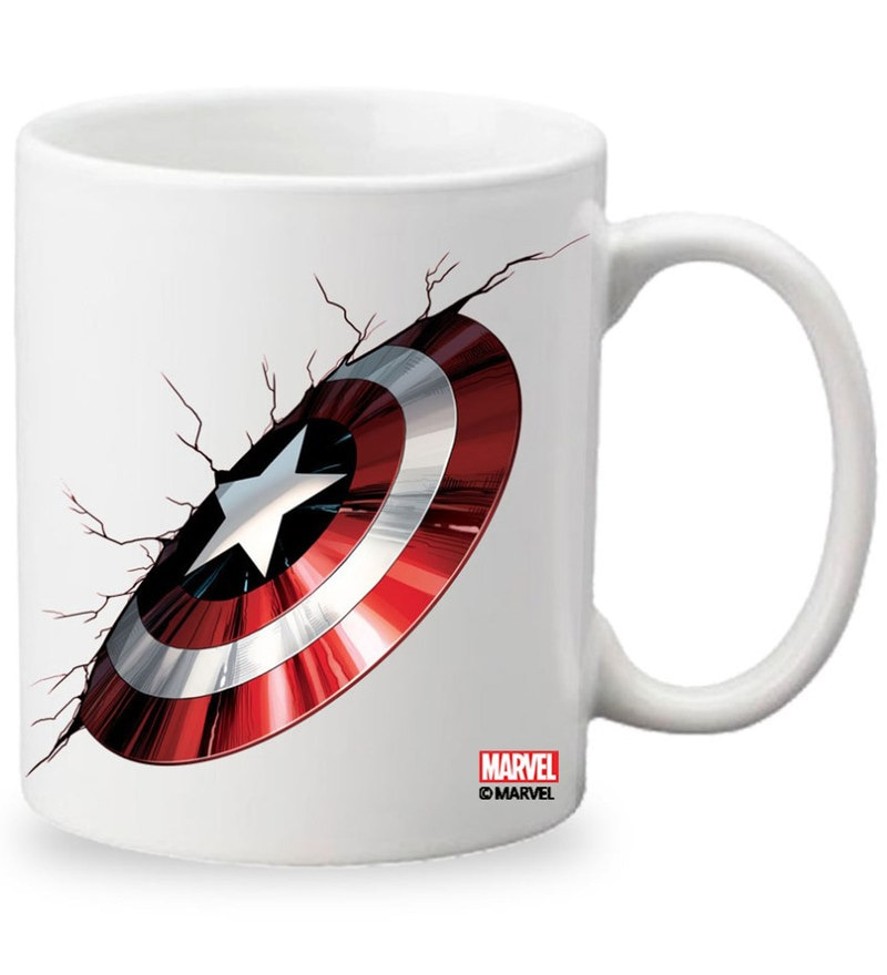 Licensed Captain America Shield Digital Printed Coffee Mug