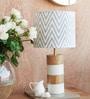 Athena White Cotton Table Lamp by Orange Tree