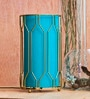Blue Raw Silk Framer Table Lamp by Orange Tree