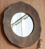 Brown Mango Wood Large Wall Mirror by Orange Tree