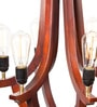 Brown Wood Corona Chandelier by Orange Tree