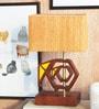 Mustard Mango Wood Effifant Table Lamp by Orange Tree