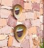 Orange Tree Gold Iron Sabin Triangular Wall Decor - Set of 2