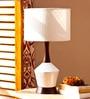 Off White Cotton Benson Table Lamp by Orange Tree