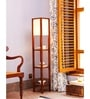 Off White Cotton Millan Floor Lamp by Orange Tree