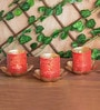 Orange Tree Red Iron Tea Light Holder Set of 3