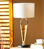 White De Cotton Tinker Table Lamp by Orange Tree