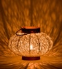 Orange Tree White Iron Tea Light Holder