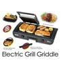 Orbit Cavali Black 20 x 10 x 7 Inch 1500W Electric Grill Griddle