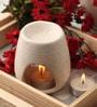 Orlando's Decor White Clay Aroma Diffuser with Decor Candles