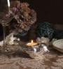 Orlando's Decor Silver White Metal Bird Tea Light Holder