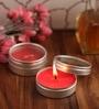 Orlando's Decor Strawberry Aromatic Travel Tin Candle - Set of 2