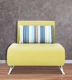 Oscar One Seater Sofa in Lime Colour