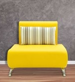 Oscar One Seater Sofa in Yellow Colour