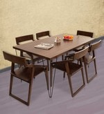 Oslo-Dulwich Six Seater Dining Set in Provincial Teak Finish