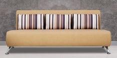 Oscar Three Seater Sofa in Beige Colour
