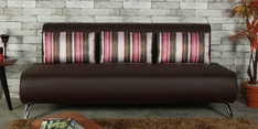 Oscar Three Seater Sofa with Cushions in Grape Wine Colour