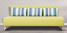 Oscar Three Seater Sofa with Cushions in Lime Colour