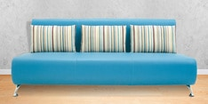 Oscar Three Seater Sofa in Peacock Blue Colour