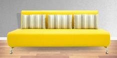 Oscar Three Seater Sofa in Yellow Colour