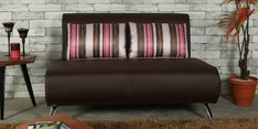 Oscar Two Seater Sofa with Cushions in Grape Wine Colour