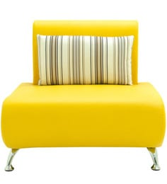Oscar One Seater Sofa in Yellow Colour by Furnitech at pepperfry