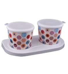 OSG Classic Time Floral Melamine Jars Tray