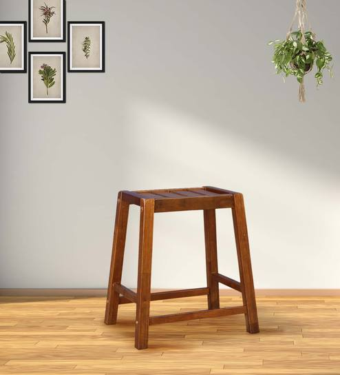 Phenomenal Ossett Solid Wood Stool In Walnut Color By Hometown Dailytribune Chair Design For Home Dailytribuneorg