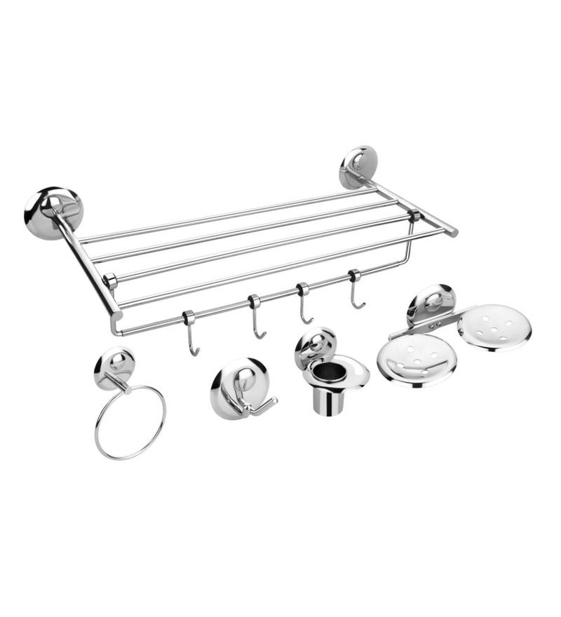 Osian Creta Series Glossy Stainless Steel 5-piece Bathroom Accessory Set
