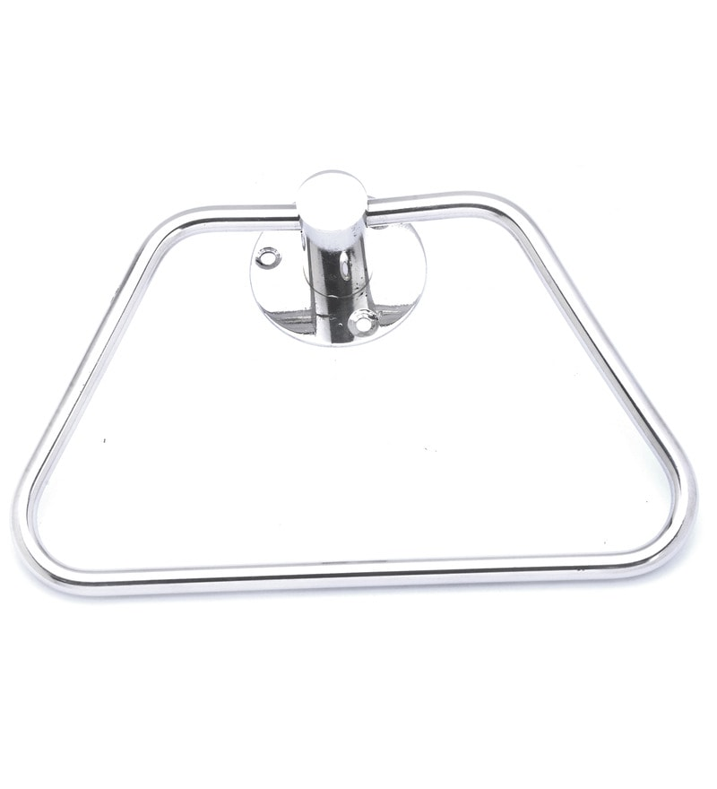 Osian Glossy Stainless Steel Towel Rod and Ring