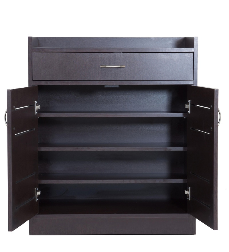 Buy oslo shoe rack in wenge colour by looking good for Decent furniture