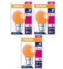 Osram Orange 0.5 W LED Deco Bulb - Set of 3
