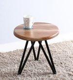 Otish End Table in Black Color