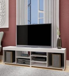 Otoko TV Unit In White Finish
