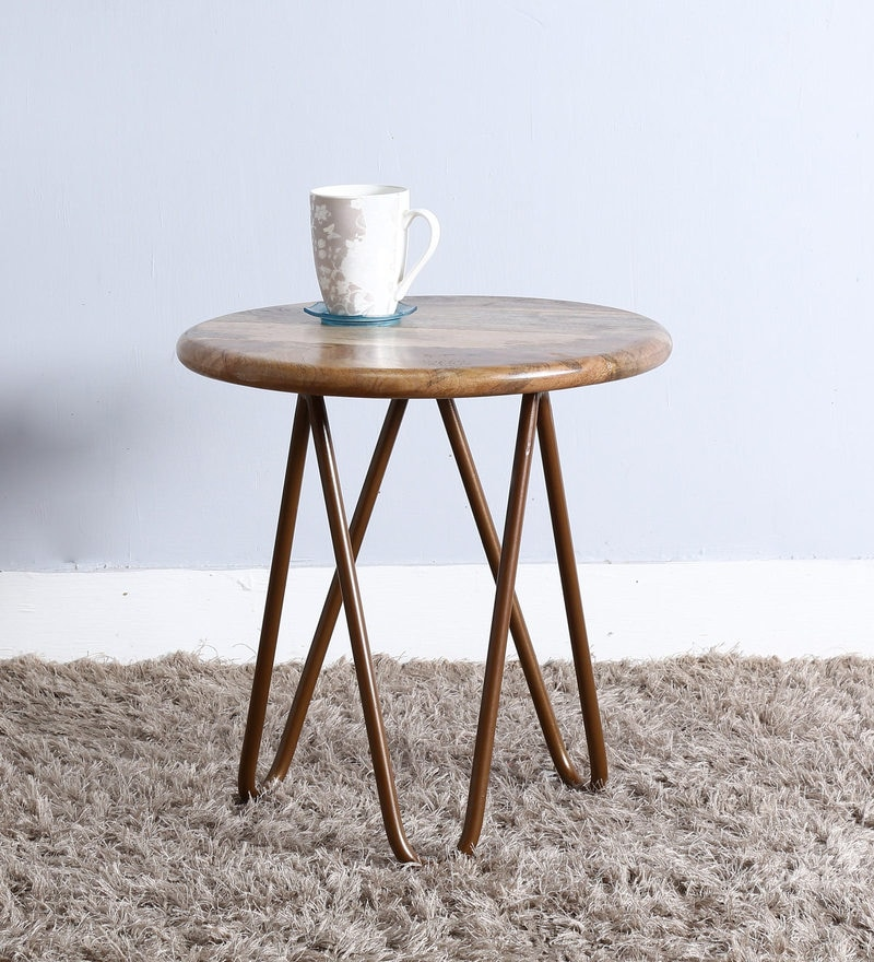 Otish Stool in Copper Finish by Bohemiana