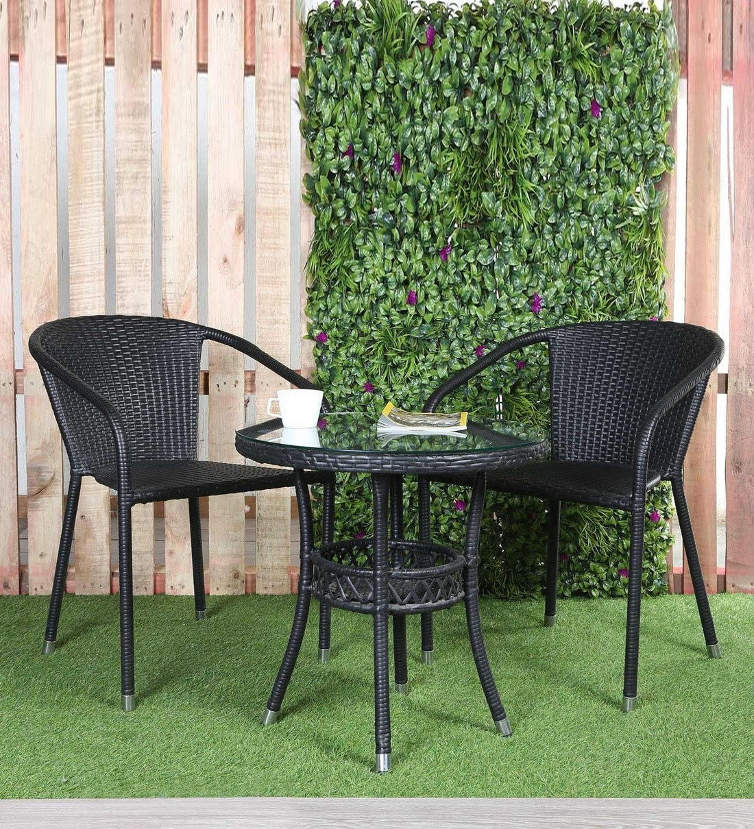 Buy Outdoor Coffee Table Set In Black Colour By Ventura Online Patio Sets Tables Furniture Pepperfry Product